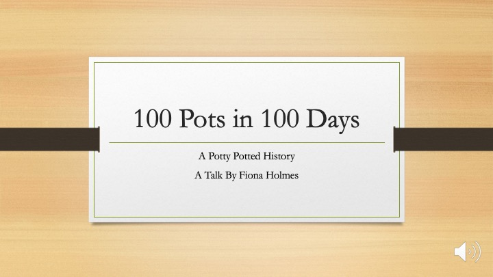 100 Pots in 100 Days: A Potty Potted History